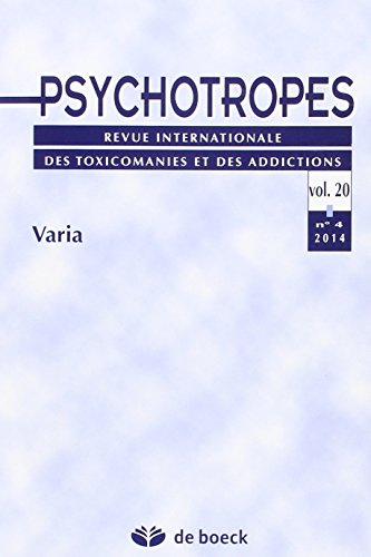 Psychotropes Volume 20 N.4 2014