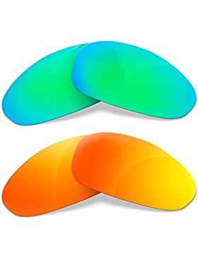 Sunglasses Restorer Lentes Polarizadas de Recambio Combo Fire Iridium + Sapphire Green para Oakley Juliet