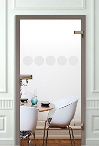 Glastür Aufkleber Tattoo Folie Glasdekor Fensterfolie Sichtschutz Wohnzimmer, Bad, Küche oder für alle Glasflächen Sichtschutzfolie für Türen GDT10 Größe ca. 14cm x 80cm