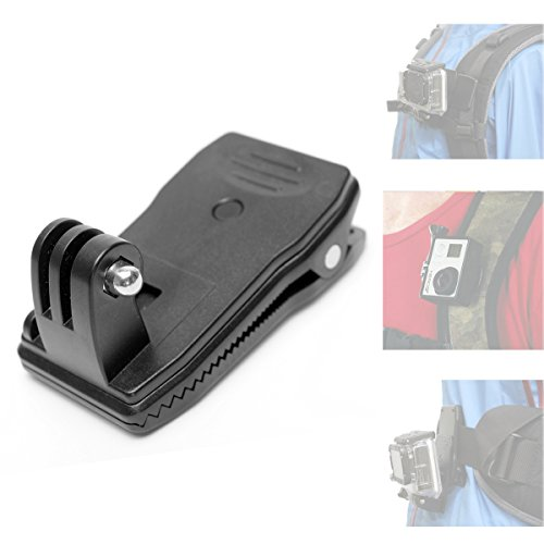 Fantaseal® Action Camera Backpack Clip Mount Rucksack Clip Mount 360 degree Rotary Clip for GoPro Clamp Mount GoPro Clip Mount GoPro Backpack Mount Hat Mount for GoPro Hero4 /3+/3/ Session SJCAM SJ4000 SJ4000WIFI SJ5000 DBPOWER QUMOX ICEFOX VIC TSING KIP