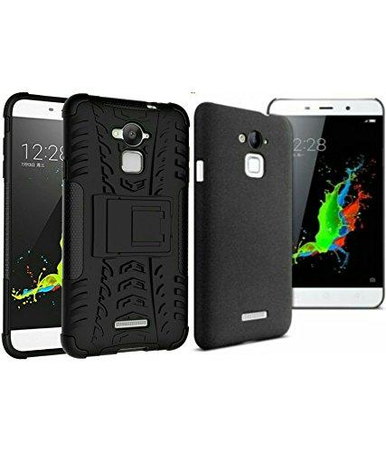 Best Deals - **Combo Offer** Coolpad Note3 Armor KickStand Back Case Cover (Black Color) + Quick Sand Case