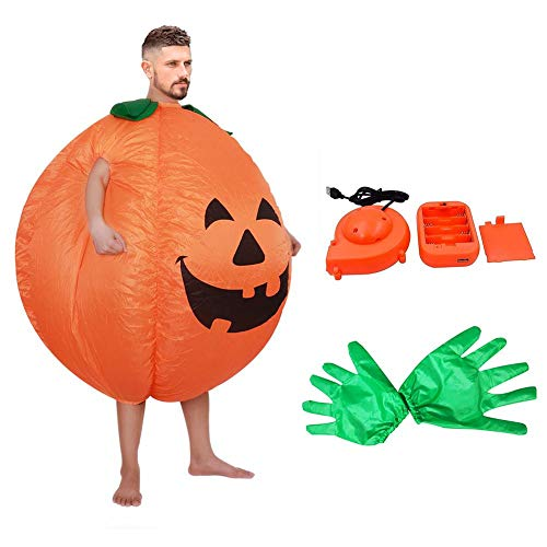 Allowevt [2019 Upgrade Aufblasbare Kostüm Ostern Halloween Kürbis Kostüme Erwachsene Blow Up Party Kostüm Lustige Anzug Kits Cosplay Party Kostüm Set eco Friendly (Lustig 2019 Halloween-kostüme)