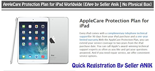 AppleCare Protection Plan for iPhone & iPad Worldwide [E-Registration by Seller Anik | No Physical Box] (iPad)