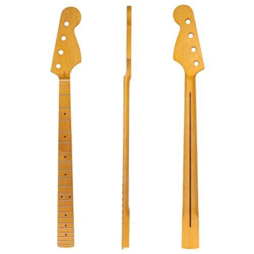 Kmise giallo 21tasti Acero collo per Fender bass-jazz Bass Collo di ricambio, Bright yellow 1