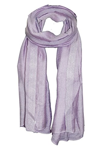 URBAN TRENDZ - Pure Viscose Solid dyed fancy Scarf with Lurex at...