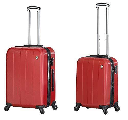 Sets de Bagages, valises - Première Classe Valise Rigide Set 2 pièces - Heys Crown Elite V Rouge Bagages à Main + Trolley avec 4 Roues Mèdias