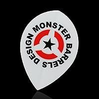 Monster darts flight pear monster logo wihte