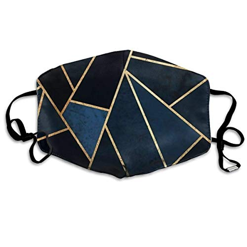 Daawqee Staubschutzmasken, Gold Geometric Anti-dust Winter Warm Polyester Ear Loop Face Mouth Mask for Boys