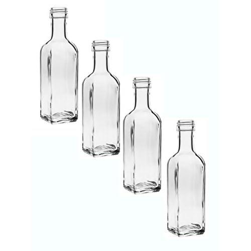 24 Leere Glasflaschen Maraska 100 Ml Incl Schraubverschluss Silber Saftflasche Likrflaschen Schnapsflaschen Lflaschen Flaschen Wasserflasche Aus Glas Zum Selbst Befllen