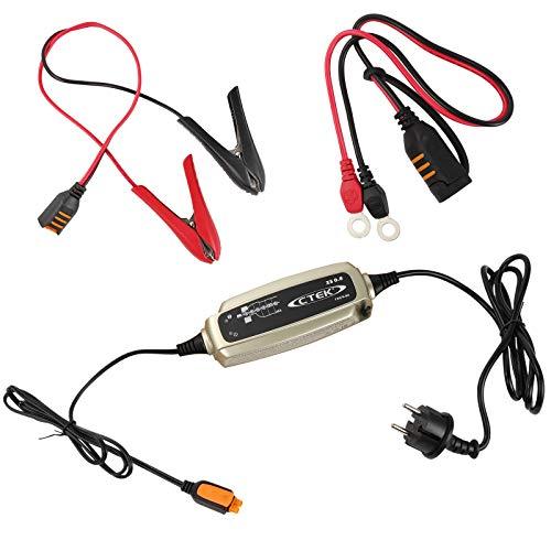 CETEK - Caricatore per batterie da 6 a 8 livelli (12 Volt), 32 Ah fino a 160 Ah, completamente automatico, ideale per la ricarica della batteria di bordo