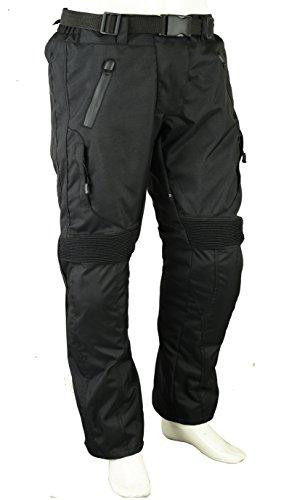 Unisexe Moto Pantalon de Protection imperméable W30 L30, Noir