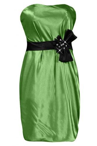Sunvary moderno, per damigella d'onore Abito da Cocktail, Mini, senza spalline Abito Green