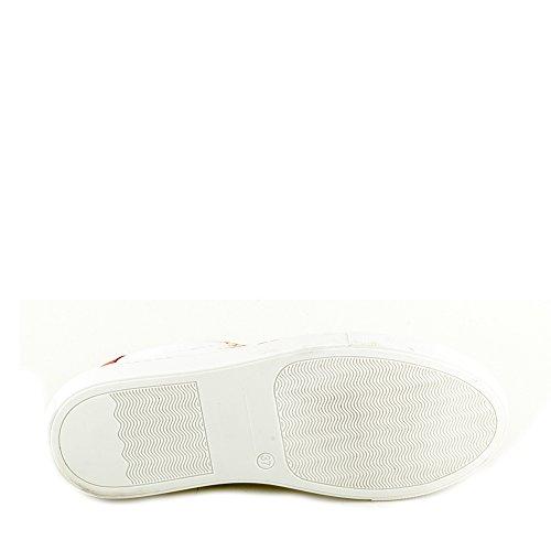 Felmini - Damen Schuhe - Verlieben Fame A532 - Sneakers - Echtes Leder - Weiß Weiß