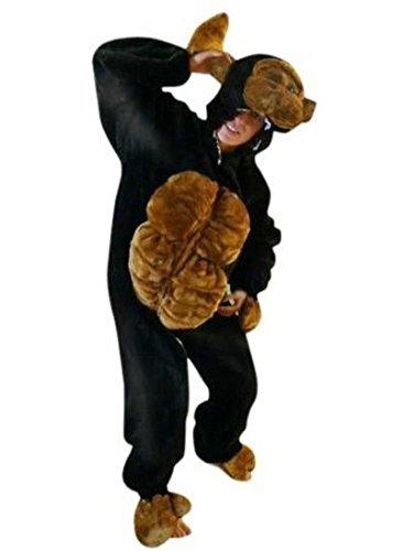 Gorilla Affen-Kostüm, F17 Gr. XL, für hoch gewachsene Männer und Frauen Affen-Kostüme Gorilla-Kostüme Affen-Faschingskostüm, Fasching Karneval, Faschings-Kostüme, Geburtstags-Geschenk Erwachsene