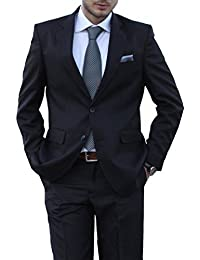 Keskin Herren Anzug Schwarz, verfügbare Größen 44-60 und 90-110 und 24-30 mit Gratis Krawatte