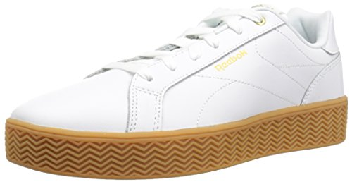 Reebok Damen Royal Complete, Weiß/Gold Metallic/Gummi, 35.5 EU