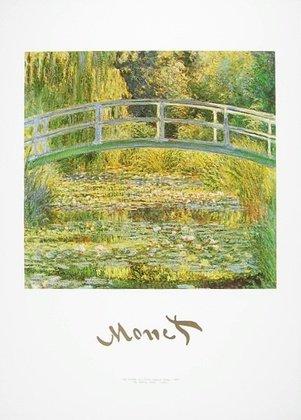 Claude Monet Poster Kunstdruck Bild Seerosenteich und japanische Brücke 50x70cm - Kostenloser Versand -