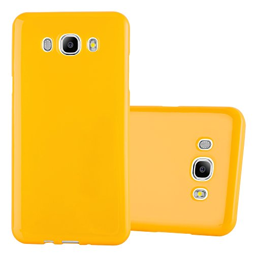 Preisvergleich Produktbild Cadorabo Hülle für Samsung Galaxy J5 2016 (6) - Hülle in Jelly GELB – Handyhülle aus TPU Silikon im Jelly Design - Silikonhülle Schutzhülle Ultra Slim Soft Back Cover Case Bumper