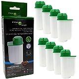 8x FilterLogic CFL-901B Wasserfilter ersetzen BRITA Intenza Nr. TCZ7003 - TCZ7033 - TZ70003 - 575491 - 467873 Filterkartusche für Bosch / Siemens / Neff / Gaggenau Kaffeemaschine Kaffeevollautomat