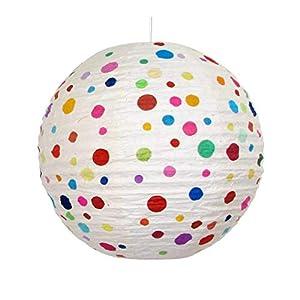 Lampenschirm Rimini Kugel - Kinder -Papierlampenschirm - HANDMADE - Pendelleuchte - Deckenleuchte Papier
