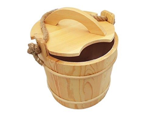 Saunakübel mit Deckel und Auslaufschutz