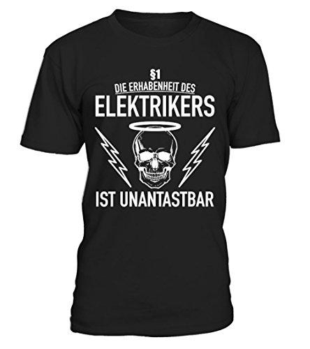 Preisvergleich Produktbild teezily Eektriker Shirt/Beruf/Handwerk/Arbeitskleidung/Geschenk/Baustelle/AR