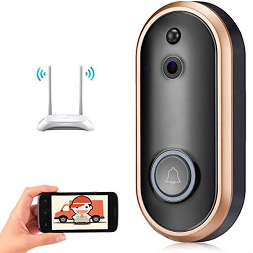 Videoportero Inalámbrico, HD Conversación Video Bidireccional En Tiempo Real/Visión Nocturna/Detección De Movimiento PIR/Control De Aplicaciones para iOS, Android