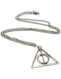 FLORAY Collar Colgante Tri¨¢ngulo Reliquias de la Muerte Harry Potter y las Reliquias de la Muerte