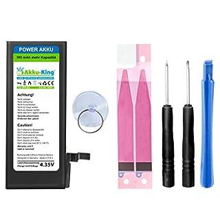 Akku-King Power-Akku kompatibel mit iPhone 6 / 6G - Li-Polymer 2200mAh - mit Öffnungswerkzeug/Klebestreifen (390mAh mehr als beim Originalakku!)