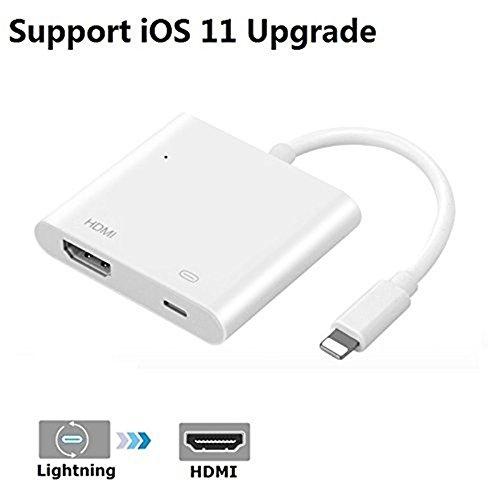 Lightning HDMI Adapter High Definition 1080p Audio Video Converter Kabel, iPhone zu HDMI Buchse Ladekabel kurz Plug & Play auf Digital AV Charger Konverter Kabel für iPhone X 8/8Plus 7/7 Plus 5/5plus 6 6s Plus iPad Pro iPod Cabel (- Digital-av-adapter Für Ipad Luft 2)