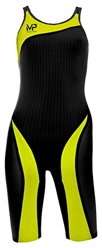 MP Michael Phelps XPRESSO Kneeskin Black/Yellow Size 26