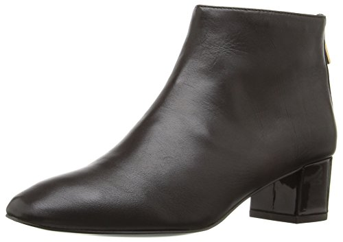 Nine West Women's Anna Ankle Bootie Dark Brown