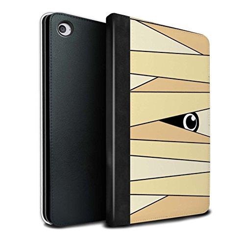 Stuff4® PU-Leder Hülle/Case/Brieftasche für Apple iPad Mini 4 Tablet/Mumie Muster/Halloween Zeichen Kollektion