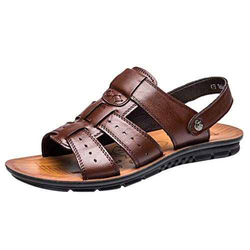 LILIHOT Hausschuhe Sommer Beach Schuhe Sandalen für Damen Herren beiläufige Hohle atmungsaktive Sandelholze der Art- und Weisemänner Geschäfts Beiläufige Sandelholze