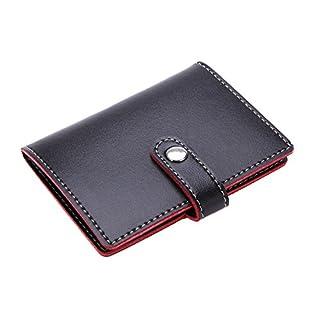 ablegrow (TM) Unisex Classy schwarz Soft Premium Herren Leder Geldbeutel praktische Lady Kreditkarte Halter ID Business Case Geldbörse