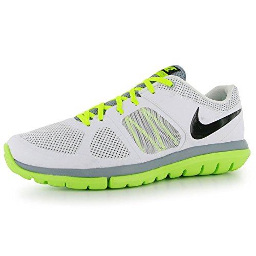 Nike Flex 2014 Run MSL Men Laufschuhe white-black-volt-dove grey - 42