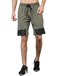 SKULT By Shahid Kapoor Men's Terry Cut N Sew Shorts