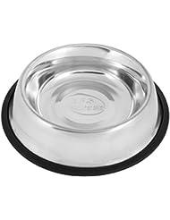 BPS® Comedero Bebedero Acero Inoxidable para Perro Gato Mascotas Diámetro Interior 15,5cm 880301 (S)