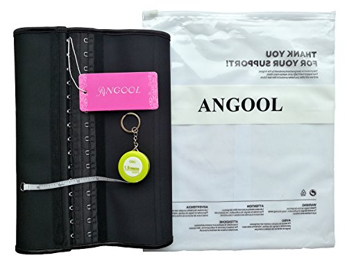 Angool-Womens-Latex-Waist-Trainer-Training-Corset-Gift-Retractable-Tape-Measure