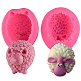 2 pcs 3D Moutons Fondant Silicone Moule De Voiture Aromathérapie Plâtre Expansion...