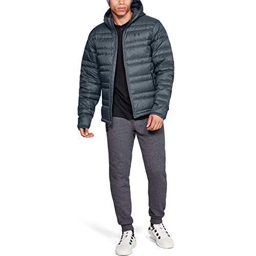Under Armour Armour Down Hooded Chaqueta, Hombre, Gris, MD