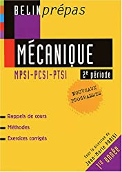 Mécanique 2e période MPSI-PCSI-PTSI