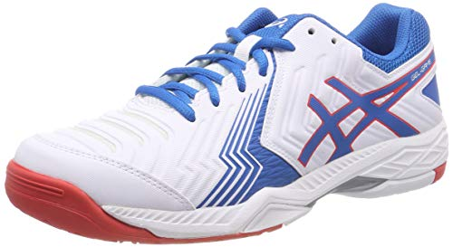 Asics Gel-Game 6, Zapatillas de Tenis para Hombre, Blanco (White/Race Blue 100), 43.5 EU