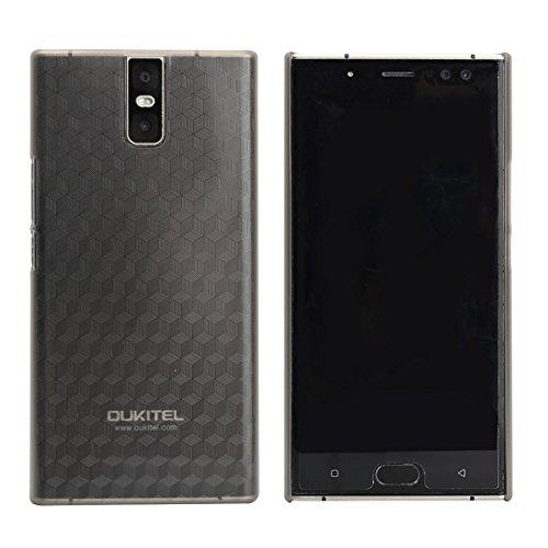 Tasche für Oukitel K3 Hülle, Ycloud mitstoßfeste Handy Backcover Kunststoff-Hard Shell Handyhülle Case Schutzhülle Grau