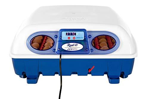 Borotto Incubatrice per Uova Semi Automatica Professionale Real 49