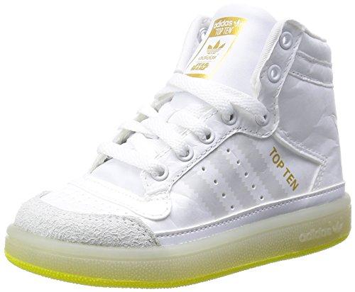 Adidas TOP TEN HI YODA Scarpe sportive da bambino, colore: bianco, Bianco (bianco), 22