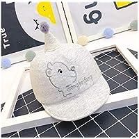 FOUGNOGKISSS Gorra de béisbol del bebé del Bordado del Sol recién Nacido del Bordado Sombrero de la protección del Sol para 0-8 Meses (Gris) (Color : Grey, tamaño : 42-46cm)