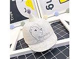 AGOPO Kleinkind Mütze Neugeborenen Bär Stickerei Sonnenblende Sonnenschutz Hut Baby Baseball Cap für 0-8 Monate (grau) Modische Mütze (Farbe : Grey, Größe : 42-46cm)
