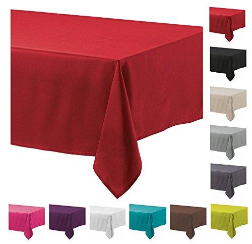 Mantel antimanchas, poliéster, rectangular 140 x 200cm Rojo