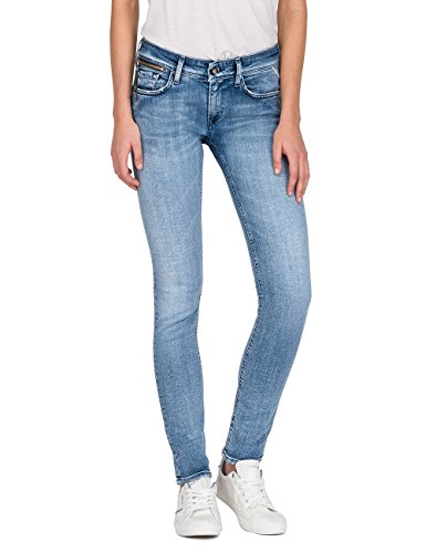 Replay Damen LUZ Coin Zip Skinny Jeans, Blau (Light Blue Denim 10), W25/L32
